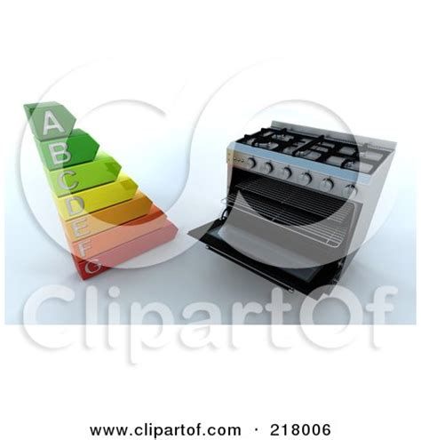 clipart illustration   chrome gas stove  oven
