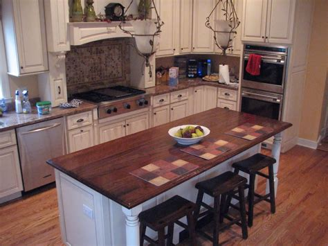 custom wood table  island top  devos woodworking