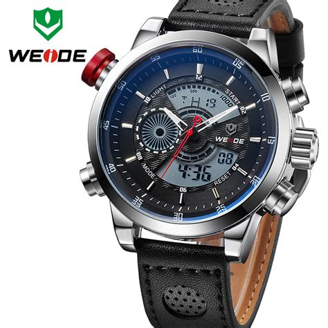 Montre Led Analog Digital Jam Tangan Pria Waterproof aliexpress buy 2016 weide s fashion casual