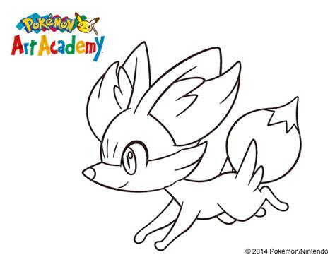 pokemon coloring pages fennekin dibujo de fennekin corriendo para colorear dibujos net