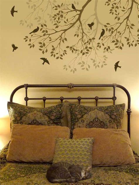 Wall Stencil Branch Song Birds Large Reusable Stencil Stencils Wall Mural Templates