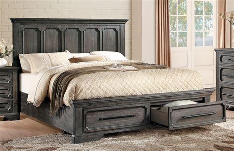 rustic platform bed homelegance toulon storage platform bedroom set rustic