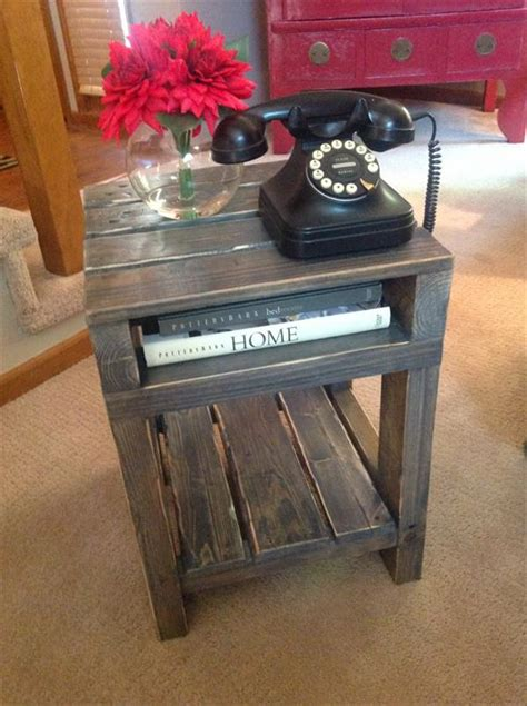 what to put on end tables diy pallet end table side table wooden pallet furniture