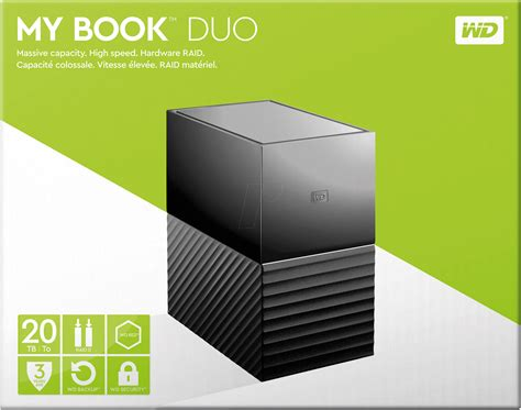 Wd My Book Duo Hdd Eksternal 3 5 8tb Usb3 0 Gray wdbfbe0200jbk wd 20tb my book duo desktop raid bei