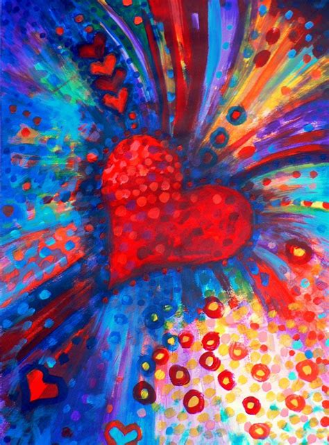 valentines day painting paintings of hearts opening the big bold colour