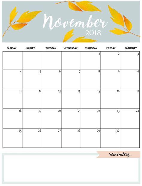 Calendar 2018 November And Crafty Monthly Calendar 2018 Calendar