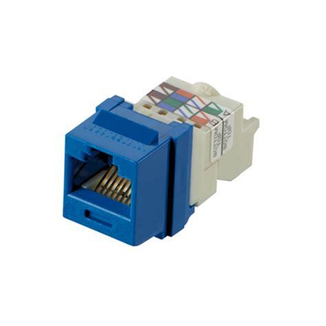 nk6tmbu nk cat 6 utp module tp style blue panduit