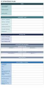 It Strategy Template by 9 Free Strategic Planning Templates Smartsheet