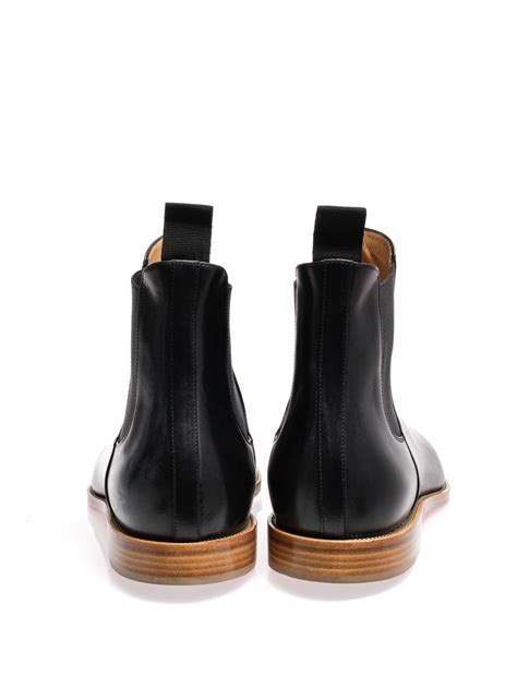 christian louboutin metal toe leather chelsea boots