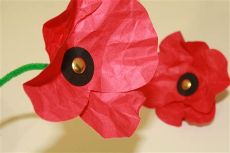 How To Make Poppies Out Of Tissue Paper - paper poppies tally s treasury