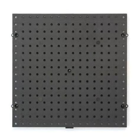 everbilt 16 in x 16 in black plastic pegboard 17961