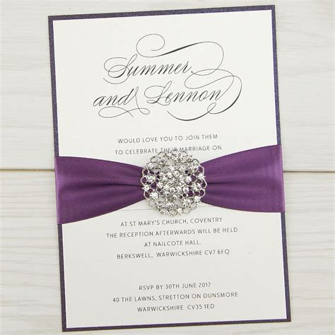 wedding invitations violet parcel invitation wedding invites
