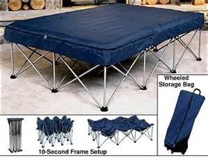 folding air bed frame