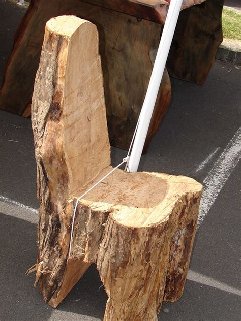 tree stump chair  rough   show