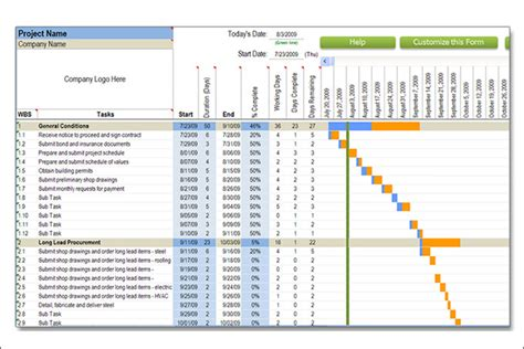 construction schedule template excel free construction schedule templates 12 free word excel
