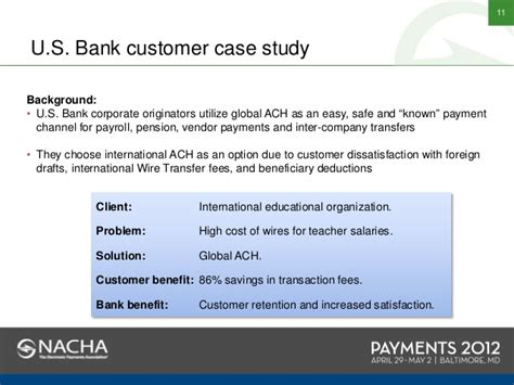 us bank banking service nacha payments 2012 u s bank earthport conquering