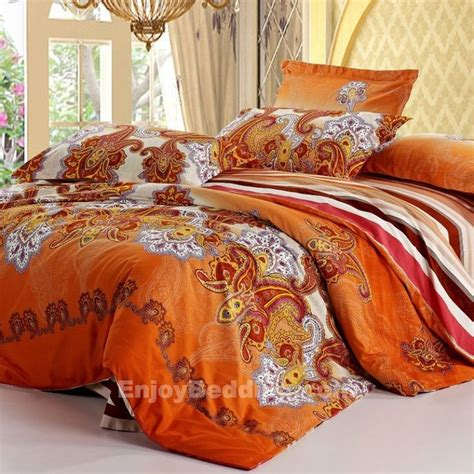 Orange Paisley Bedding Sets Enjoybedding Com Apartment Paisley Bedding Sets