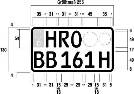 125er Motorrad Kennzeichen by Fzv Verordnung 252 Ber Die Zulassung Fahrzeugen Zum