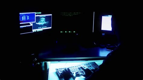hacker film polski hacker on a computer stock footage video 3884897