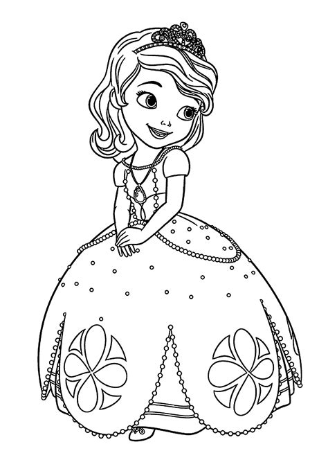 sofia coloring pages pdf sofia the first coloring pages pinterest sofia the