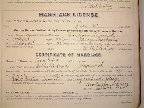Kansas Marriage Records Florida Birth Certificate Record Marriage License