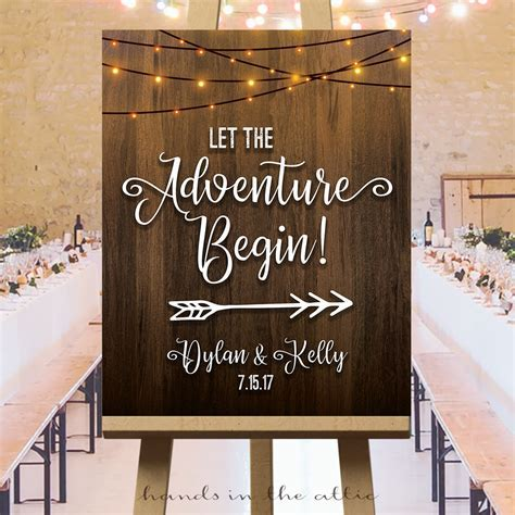 Let the Adventure Begin Sign   Hands in the Attic