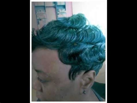 dry wave hairdo relaxer and finger wave video tutorial doovi