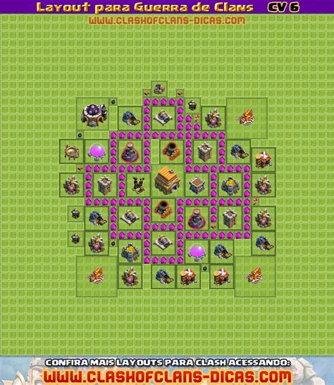 layout cv nivel 6 layouts para guerra de clans cv 6 clash of clans dicas