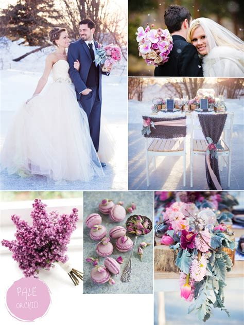 colour themes for a winter wedding purple hues for winter wedding color ideas and bridesmaid