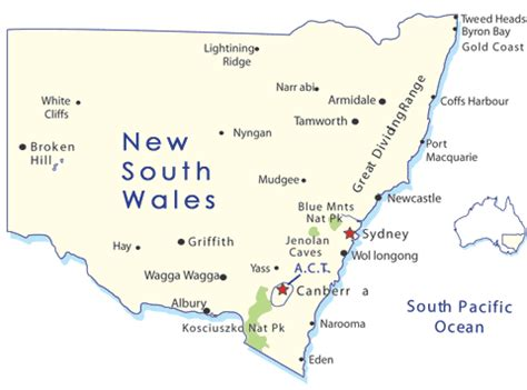map of new south wales australia new south wales holidays goway travel