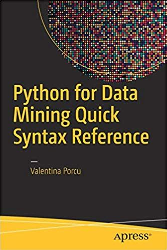 python  data mining quick syntax reference