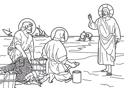 coloring pages jesus fish disciples the church year in the home st andrew november 30