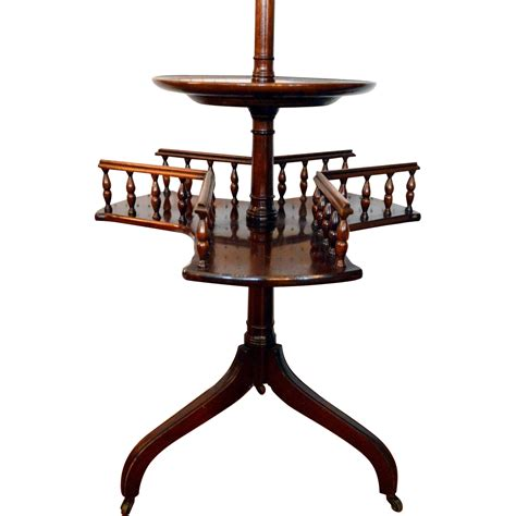 solid mahogany revolving bookcase l table from front