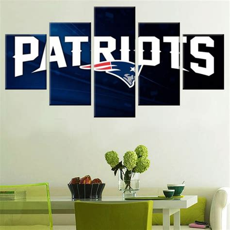 home decor for sale new england patriots chions 5pcs painting canvas wall