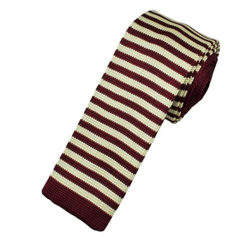 burgundy knit tie ties planet burgundy ecru striped knitted tie from ties
