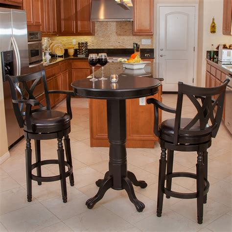 bar table set eclipse 3 pc wood pub set pub tables bistro sets at