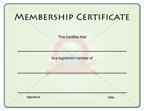 membership certificate template free membership certificate membership certificate template