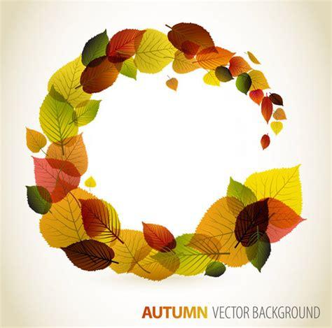 desain grafis daun kata kunci bulat daun daun musim gugur vektor bahan