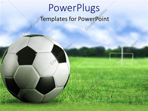 3d soccer pitch powerpoint template powerpoint template 3d soccer up on green
