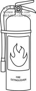 fire extinguisher coloring page royalty free clip art picture