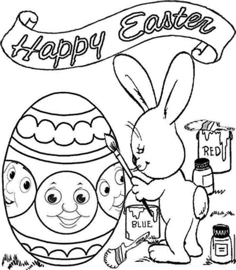 printable colouring pages easter thomas the train for kids