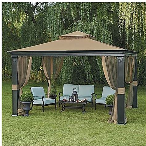 10 X 12 Patio Gazebo 10 X 12 Fremont Patio Gazebo With Mosquito Netting Gazebos Patio And Furniture