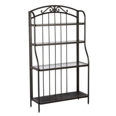 Bakers Rack Home Depot by Hton Bay Edington Bakers Rack 131 012 Br The Home Depot