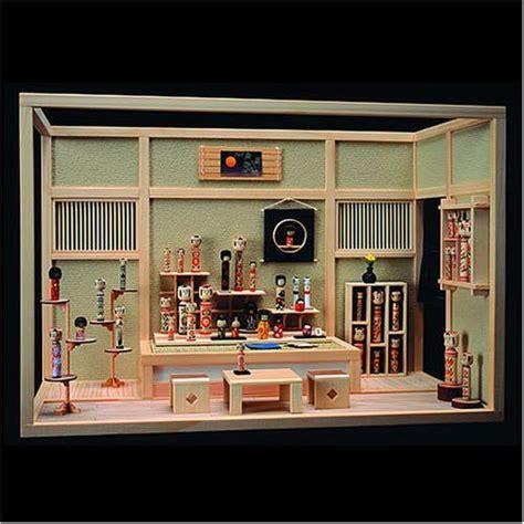 Dollhouse Room Box by Nicely Done Dollhouse Miniature Kokeshi Doll Display Room Box Japanese Miniatures
