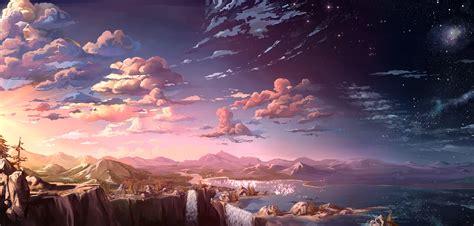 anime wallpaper hd landscape anime landscape wallpaper hd pixelstalk net