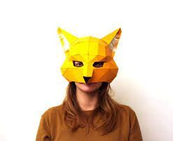 Origami Fox Mask - origami animal mask m 225 scaras origami