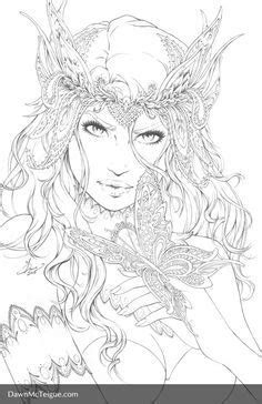 Southern Nightgown: Butterfly - Pencils by Dawn-McTeigue