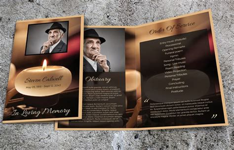 Creative Office Design by Obituary Template Free Pdf Psd Format Download