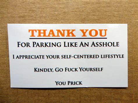 Bad Parking Business Cards
