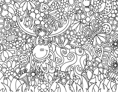 zendoodle coloring pages for adults garden moose zendoodle from kat s zendoodle kreations www